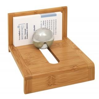 WEDO Visitenkartenhalter 611407 Bambus braun