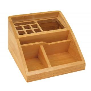 WEDO Schreibtischbutler 62507 Bambus 3 Fächer braun