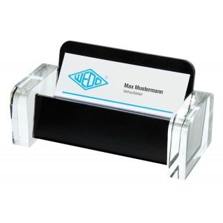 WEDO Visitenkartenhalter 604401 Acryl Exkluisv glasklar/schwarz