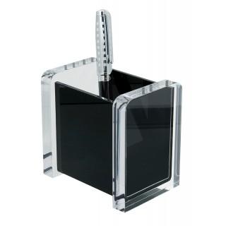 WEDO Stifteköcher 604001 Acryl Exclusiv glasklar/schwarz