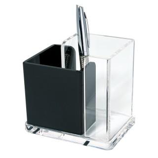 WEDO Schreibtischbutler 606001 Acryl Exklusiv glasklar/schwarz