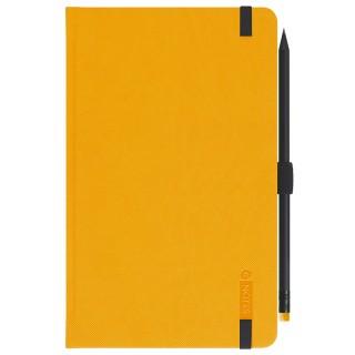 LEYKAM ALPINA Notizbuch G-Notes 110 13 x 21 cm 160 Blatt liniert Hardcover gelb