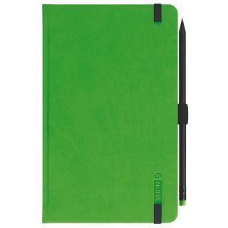 LEYKAM ALPINA Notizbuch G-Notes 112 13 x 21 cm 160 Blatt liniert Hardcover grün