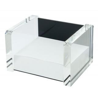 WEDO Zettelbox 607001 Acryl Exklusiv befüllt glasklar/schwarz
