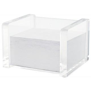 WEDO Zettelbox 607016 Acryl Cristallic befüllt glasklar