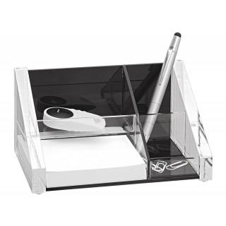 WEDO Schreibtischbutler 605101 Acryl Exklusiv glasklar/schwarz