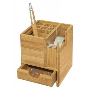 WEDO Tischorganizer 611707 Bambus mit Abroller braun