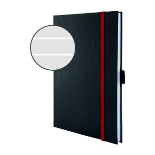AVERY ZWECKFORM notizio Notizbuch 7026 mit Hardcover DIN A5 80 Blatt 90g/m² liniert dunkelgrau