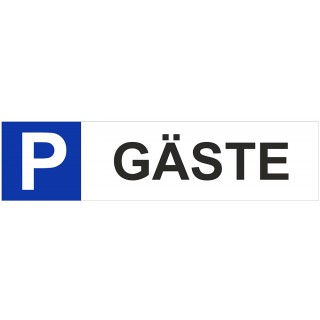 JUST Hinweisschild Gästeparkplatz 400 x 100 mm PP