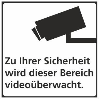 JUST Hinweisschild Videoüberwachung 150 x 150 mm PP