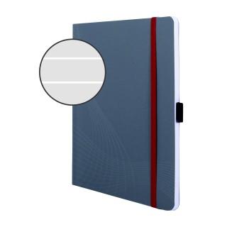 AVERY ZWECKFORM Notizbuch notizio 7018 mit Softcover DIN A5 80 Blatt 90g/m² liniert grau
