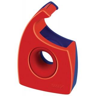 TESA Handabroller 57444 für Klebebänder bis 19 mm x 33 m rot/blau