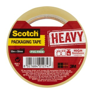 SCOTCH Heavy Verpackungsklebeband 1 Rolle 50mm x 50m transparent