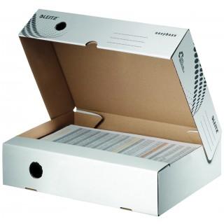 LEITZ easyboxx Archivbox DIN A4 breit 80 mm weiss