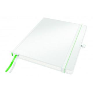LEITZ Notizbuch Complete A4 80 Blatt kariert weiß