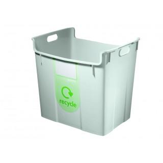 LEITZ Wertstoffsammelbehälter mit Tragegriffen 40 Liter grau