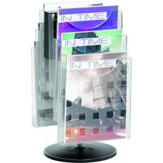 HELIT Tischprospekthalter 6 Taschen DIN A4 transparent