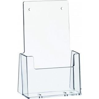 HELIT Tischprospekthalter 1 Tasche Format 1/3 A4 transparent