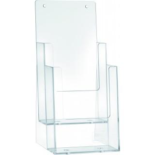 HELIT Tischprospekthalter 2 Taschen Format 1/3 A4 transparent