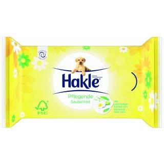 HAKLE Feuchttücher mit Kamille und Aloe Vera Nachfüllung 42 Stück