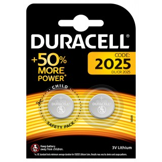 DURACELL Batterie DL 2025 Lithium 3V 2 Stück