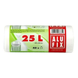 ALUFIX Müllsäcke 25 Liter 40 Stück weiss