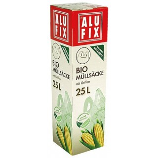 ALUFIX Biomüllsäcke mit Griff 25 Liter 10 Stück