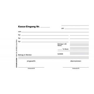 LEYKAM Kassa-Eingangsbuch A51052E 3 x 50 Blatt selbstdurchschreibend