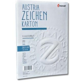 AUSTRIA Zeichenkarton A4 200 Blatt 200 g weiss