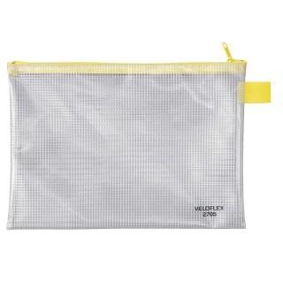 VELOFLEX Reißverschlusstasche A5 transparent