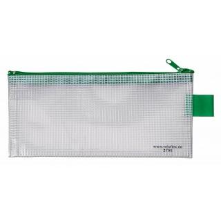 VELOFLEX Reißverschlusstasche 20x10cm transparent