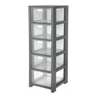 CEP Schubladenbox mit 5 Schubladen transparent