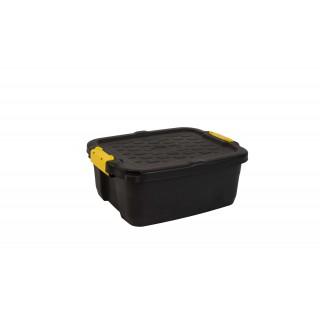 CEP Aufbewahrungsbox Heavy Duty mit Deckel 24 Liter schwarz-gelb