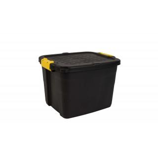 CEP Aufbewahrungsbox Heavy Duty mit Deckel 42 Liter schwarz-gelb