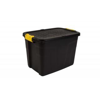 CEP Aufbewahrungsbox Heavy Duty mit Deckel 60 Liter schwarz-gelb