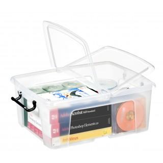 CEP Strata Aufbewahrungsbox mit Doppelklappdeckel 24 Liter transparent