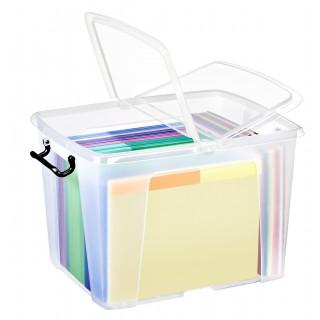 CEP Strata Aufbewahrungsbox mit Doppelklappdeckel 40 Liter transparent