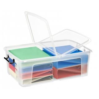 CEP Strata Aufbewahrungsbox mit Doppelklappdeckel 50 Liter transparent