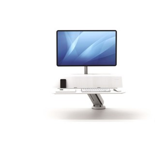 FELLOWES Lotus RT Sitz-Steh Workstation für 1 Monitor weiß