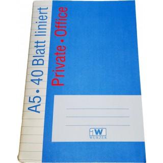 OFFICE Heft DIN A5 40 Blatt 80g/m² liniert
