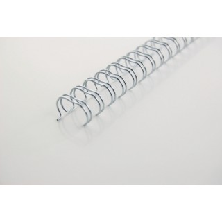 GBC Drahtbinderücken WireBind DIN A4 100 Stück 3:1-Teilung 5mm silber