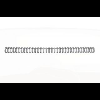 GBC Drahtbinderücken WireBind 100 Stück DIN A4 3:1-Teilung 9,5 mm silber