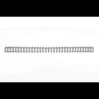 GBC Drahtbinderücken WireBind 100 Stück DIN A4 3:1-Teilung 11mm schwarz