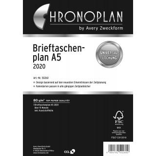 AVERY ZWECKFORM Chronoplan Brieftaschenplaner 50260 DIN A5 30 Blatt für 2020