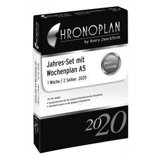 AVERY ZWECKFORM Chronoplan Jahresset Wochenplan 50290 DIN A5 202 Blatt für 2020