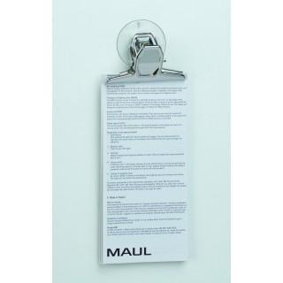 MAUL Papierklemmer MAULpro mit Saugnapf 3 Stück 75 mm silber