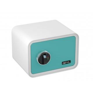 OLYMPIA Tresor GO Safe 100 mit Fingerprint blau/weiß