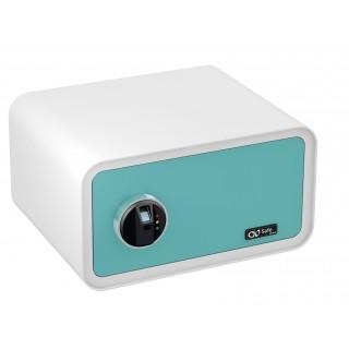 OLYMPIA Tresor GO Safe 200 mit Fingerprint blau/weiß