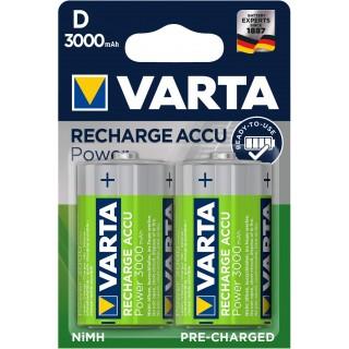VARTA Batterie Recharge Accu Power 2 Stück D 3000 mAh