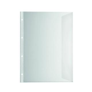 FALKEN Dokumentenhülle 10 Stück DIN A4 mit Verschlusslasche 150µm transparent